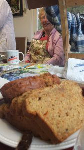 Painting is hungry work and we have plenty of tea and coffee.... Pat usually bakes some of his famous banana bread for us!