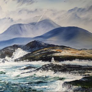 """Valentia Lighthouse at Cromwell Point 16x20"""""""