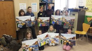 The Liffey Swim, the finished painting!!