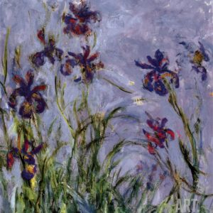 We painted a version of Monet's Irises at the April 2014 weekend!