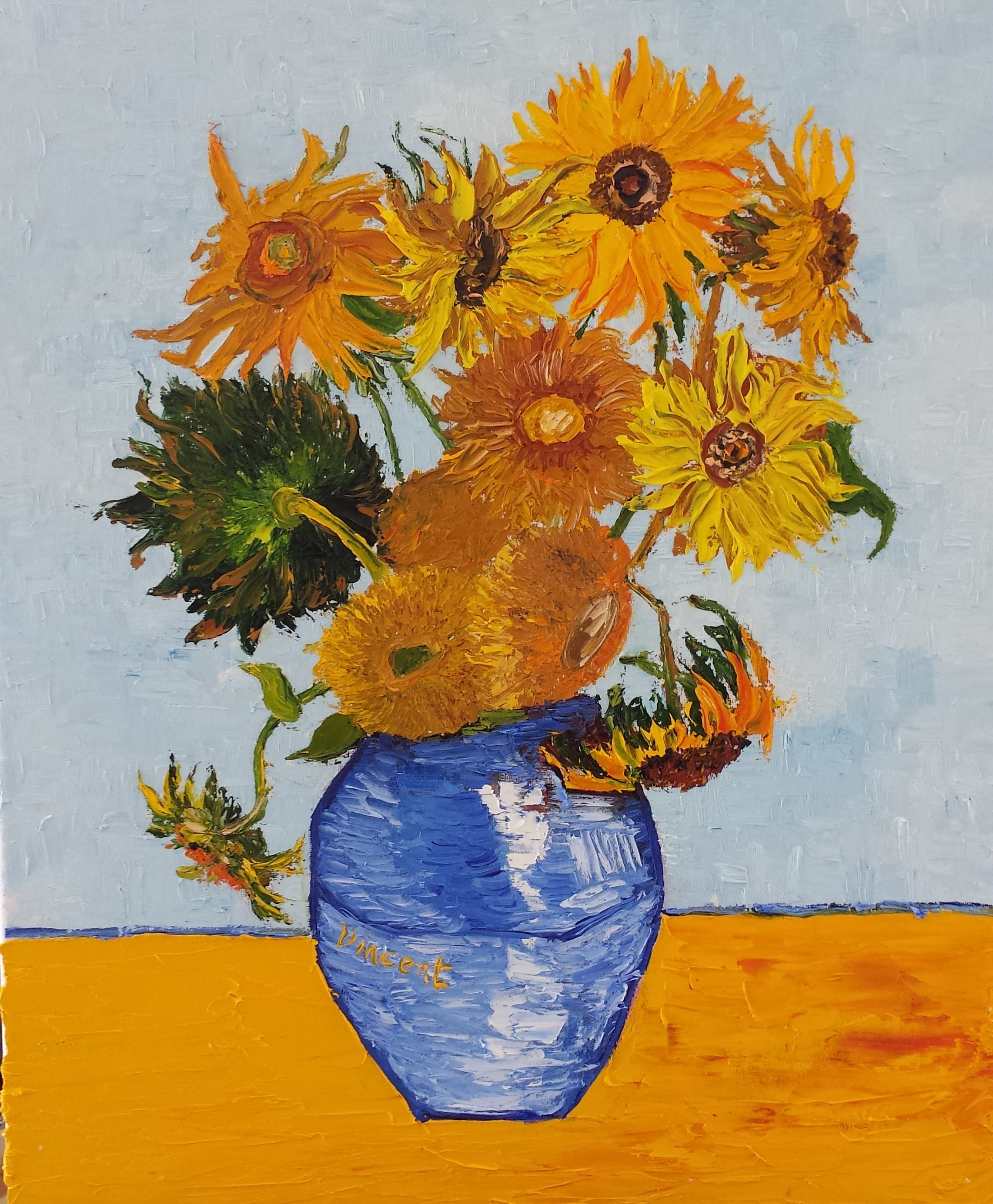 July 28th 29th weekend course 2018 van gogh s sunflowers for Van gogh paintings locations