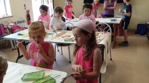 Puppet Summer Camp July 2014 making the scenery