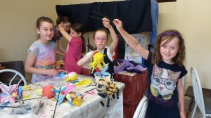 Summer Camp 2014 Decorating the puppets