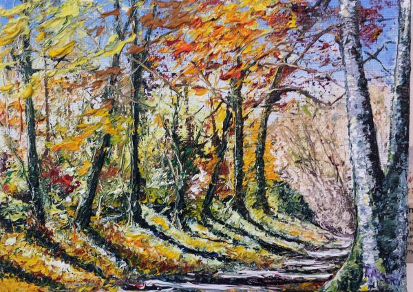 The Copper Mines in Autumn, Ross Island Killarney 6x8""