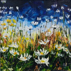 Wild Daisies at Dingle 23x23cm