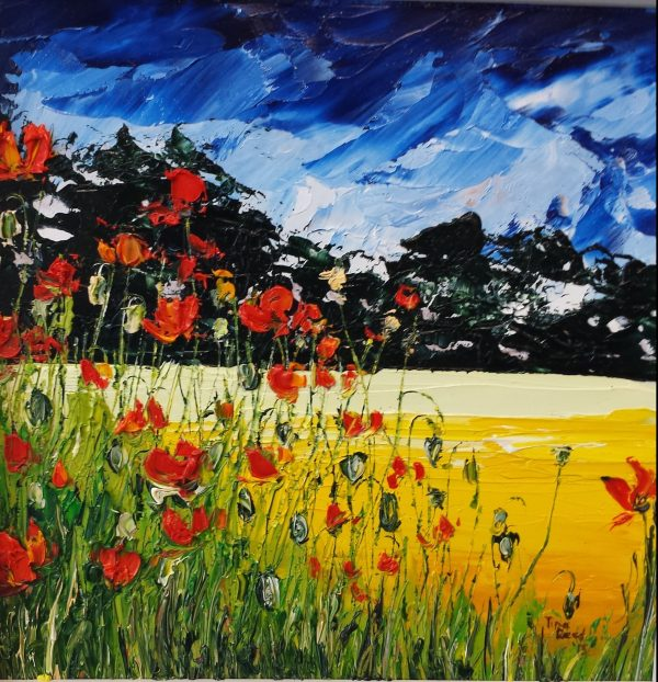 Summer Poppies 23x23cm €140