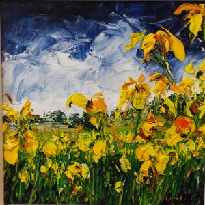 Yellow Irises The Demesne, 23x23cm €140
