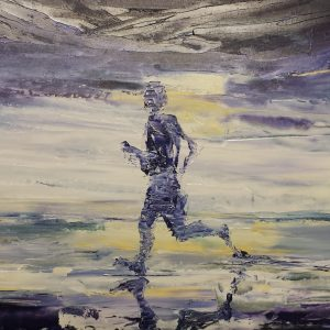 The Beach Runner 28x70cm €315 framed