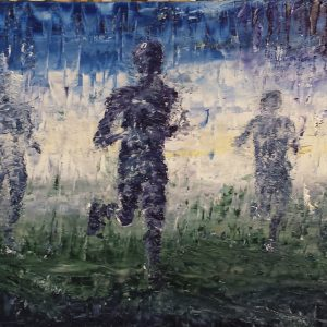 The Mountain Runners 70x23cm