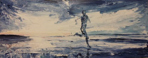 The Blue Beach Runner 70x23cm framed €220