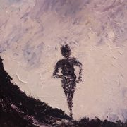 Mountain Runner on the UTMB 40x40cm