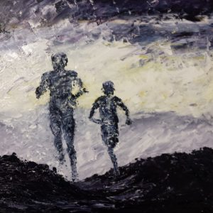 Out for a Run 40x40cm €320