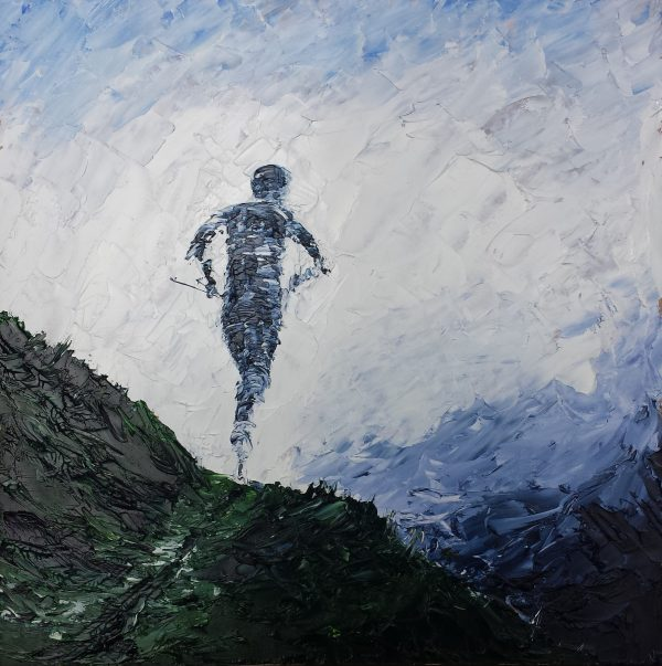 Runner on the UTMB 40x40cm €225