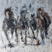 Running With the Herd (1) 40x40cm
