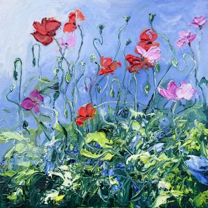 Poppies 23x23cm €180 framed