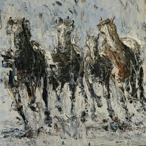 Running With the Herd (2) 40x40cm