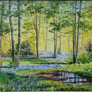 Bluebell Woods With Puddle 40x50cm