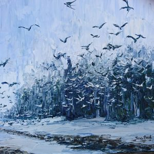 The Birds 23x23cm €210