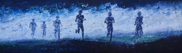 The Mountain Runners (box canvas) 30x100cm €320