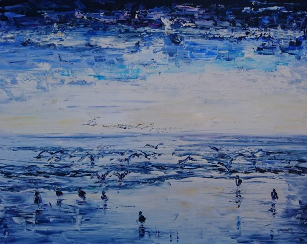 Alighting on the Beach 80x65cm €460