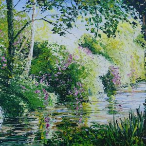 The Deenagh, Rhododendron Reflections 16x20""