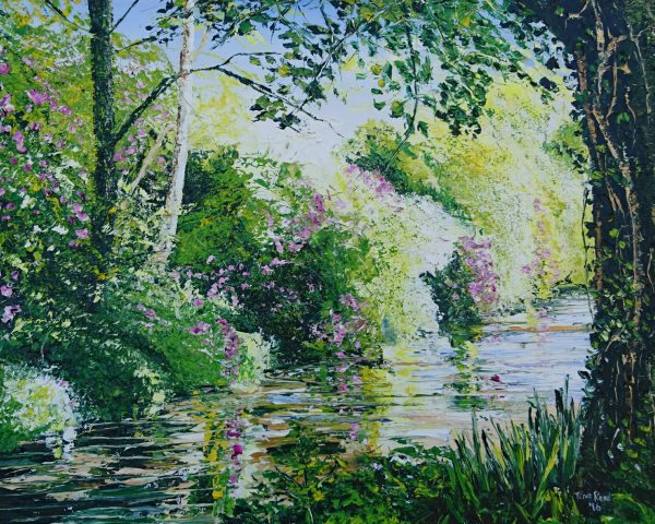 """The Deenagh, Rhododendron Reflections 16x20"""""""