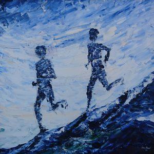 The Downhill Runners 40x40cm €380
