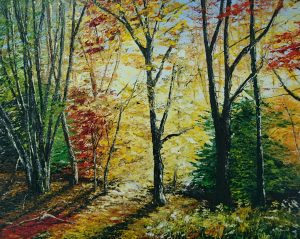 Early Morning Light in Autumn 40x50cm