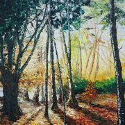 Early Morning Light, Autumn in the Demesne, Killarney 40x51cm