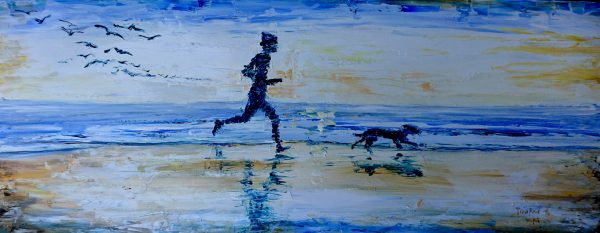 Bobble-Hat Beach Runner. 28x70cm