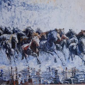 The Wild Herd 78x62cm