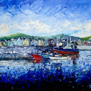 Fishing Boats Dingle Bay 25x30cm
