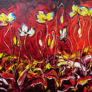 Hot Poppy (Box) 50x70x4