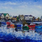 Fishing Boats at Howth Harbour 40x50cm