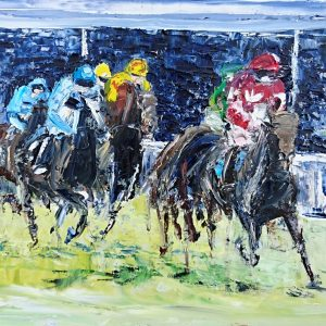 First Past The Post, Cheltenham 100x32cm