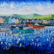 Fishing Boats Dingle Harbour 40X40cm