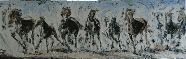 The Desert Herd 100x32cm