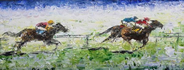 About To Pounce 28x70cm