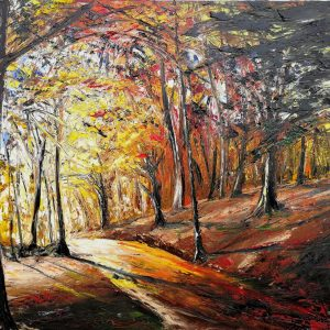 In A Yellow Wood 62x77cm
