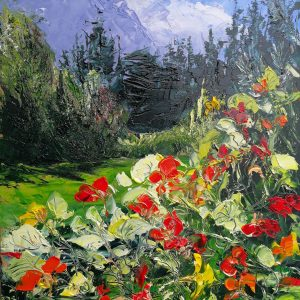 Nasturtiums At The Paps of Anu 23x30cm