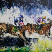 The Hurdle 42x62cm
