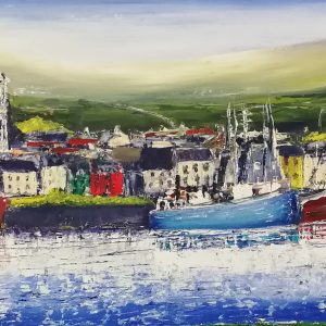 Dingle Harbour Panorama 100x30cm