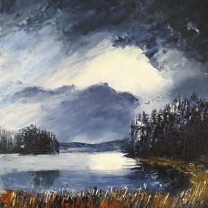 Top of the County Bounds Loch Carrignafurark 40x50cm