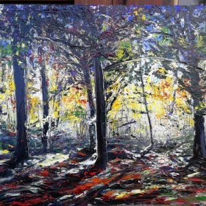 Torc Woods in Autumn 40x50cm