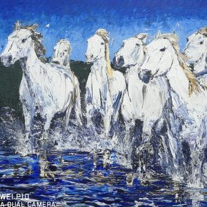Horses of the Camargue 61x76cm