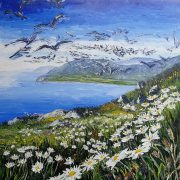 The Wild Cliffs, Dingle Peninsular 90x90cm box canvas