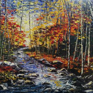 Autumn at the Foot of Torc Mountain Killarney 62x77cm
