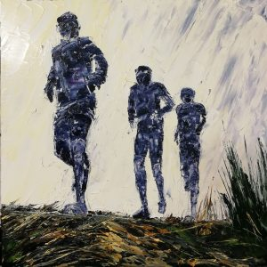 The Last Long Run Before The Race 40x40cm