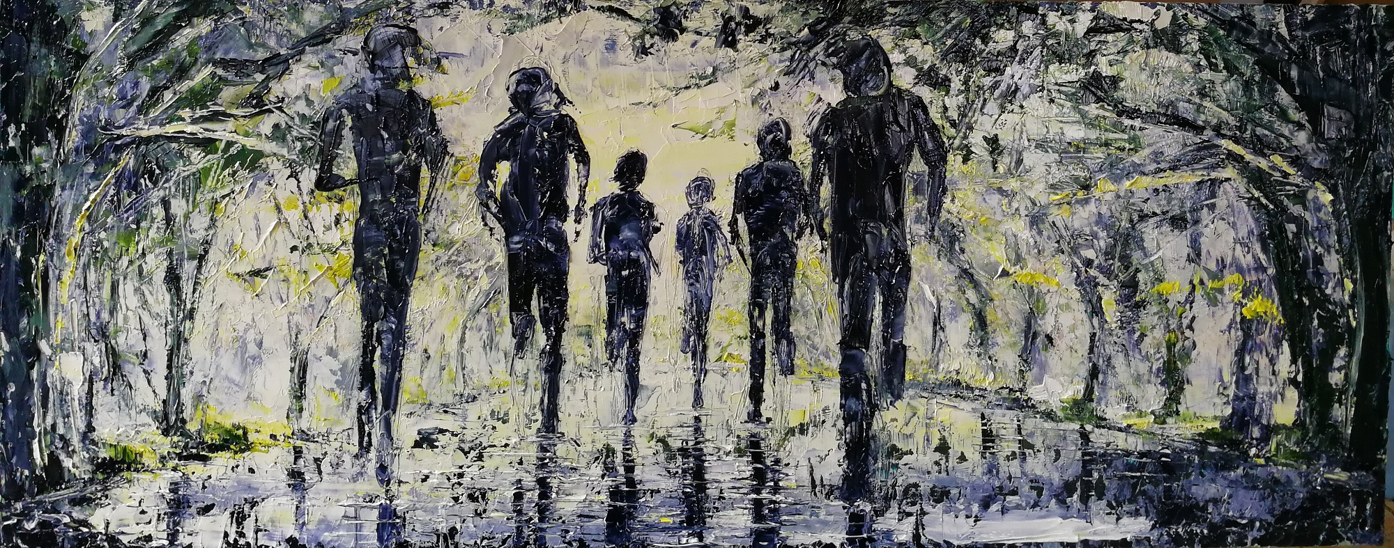 The Road Run After The Rain 28x70cm
