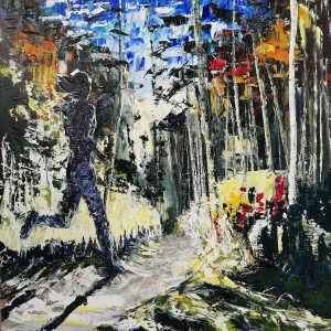 The Trail Runner 40x40cm